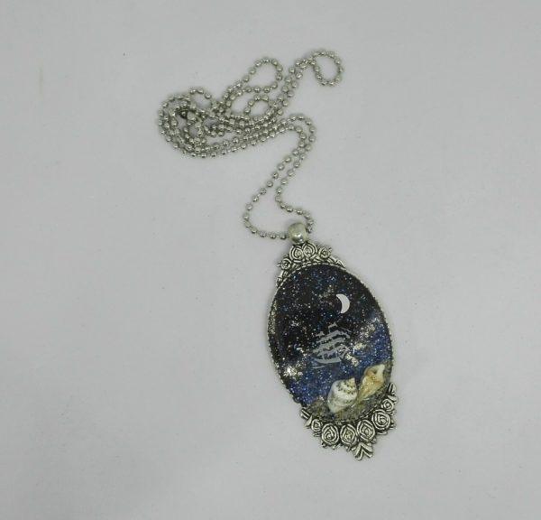 """pendente """"Il mare di notte"""" Giusy Farris Artista giusy's Bijoux de Fantasie"""