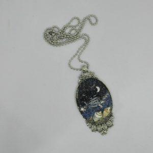 """Pendente """"Il mare di notte"""" Giusy Farris Artista- Giusy's Bijoux de Fantasie"""