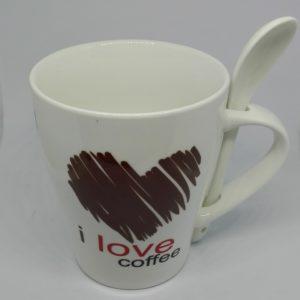 Tazza porcellana i love you coffee